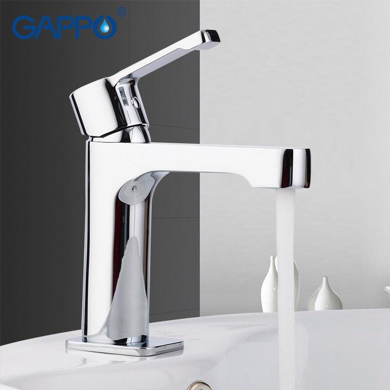 GAPPO, латунный Смеситель для раковины, хромированный, torneira, смеситель для раковины, краны для ванной комнаты, смеситель для раковины, латунный...