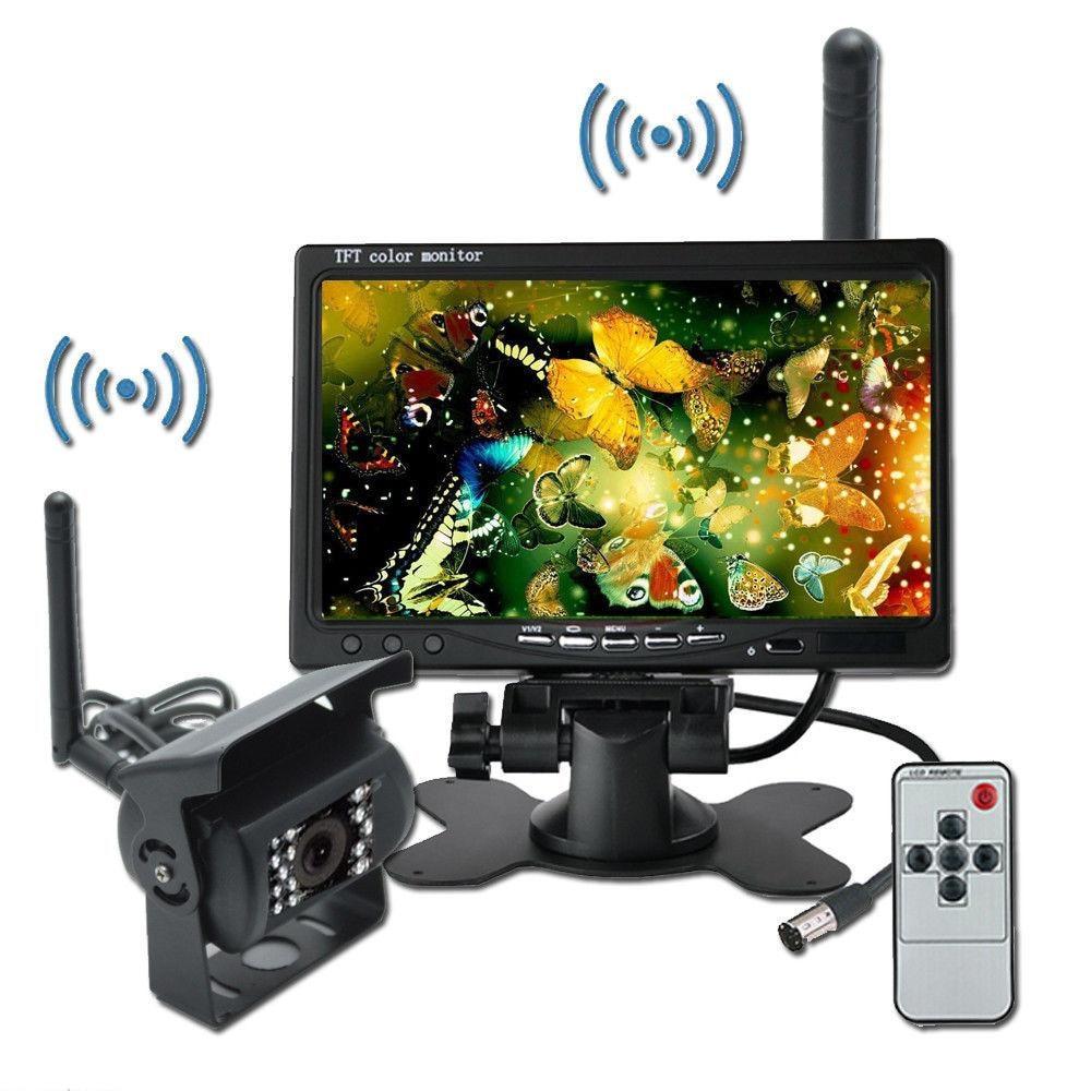 Wireless IR Rear View Back up Camera Night Vision System+7 Monitor for RV Truck dash camera 4k dvr car recorder dashcam dual