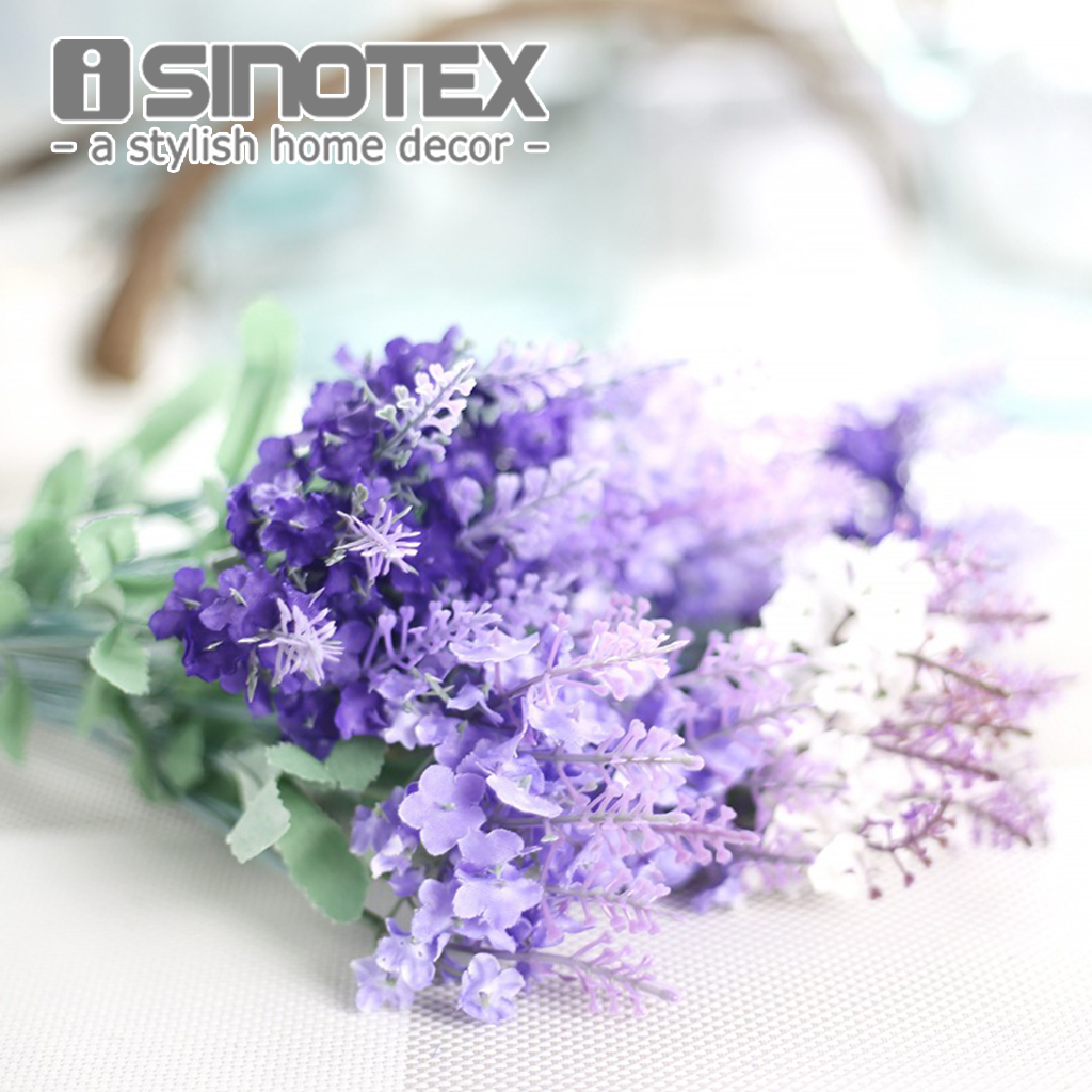 Artificial flower silk flowers home floral lavender for Artificial flower for decoration