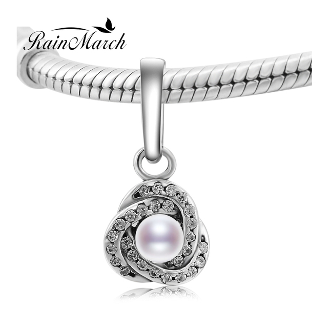 Fit pandora bracelets love knot pearl pendant beads authentic 100 fit pandora bracelets love knot pearl pendant beads authentic 100 925 sterling silver charms women mozeypictures Image collections