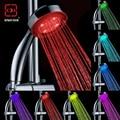 Романтический Автоматически Изменение 7 LED Красочный Насадка для душа Сопла абс-пластик круглый одной головы Ванна Ороситель Многоцветный