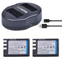 PowerTrust 2 pièces 2400mAh EN-EL9 EN-EL9a EN EL9 EN EL9a batterie + Double Chargeur USB pour Nikon ENEL9 D40 D60 D40X D5000 D3000