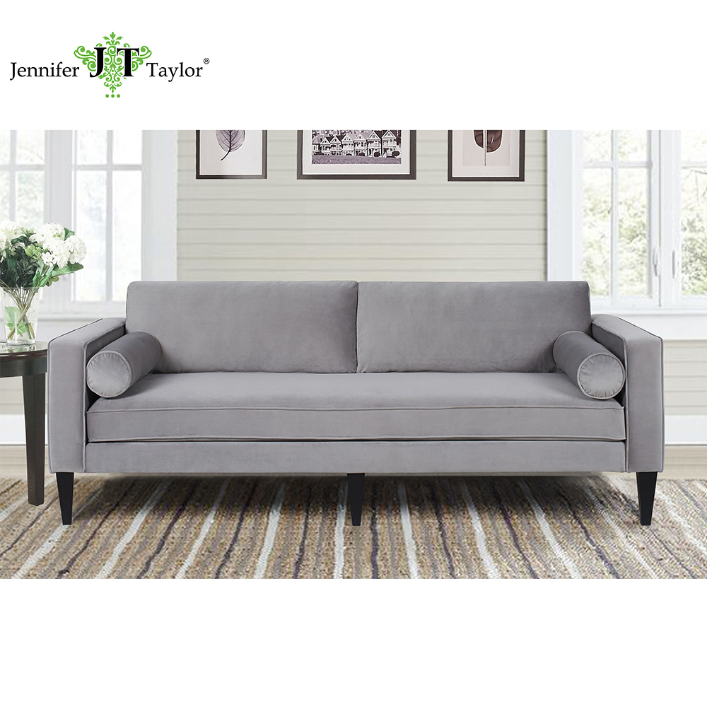 Jennifer Taylor Home, Sofa, Natural, Linen Blend, Hand Painted and Hand Rub Finished Wooden Legs, 85W x 36D x 34H, 63030 jennifer bassett shirley homes and the lithuanian case
