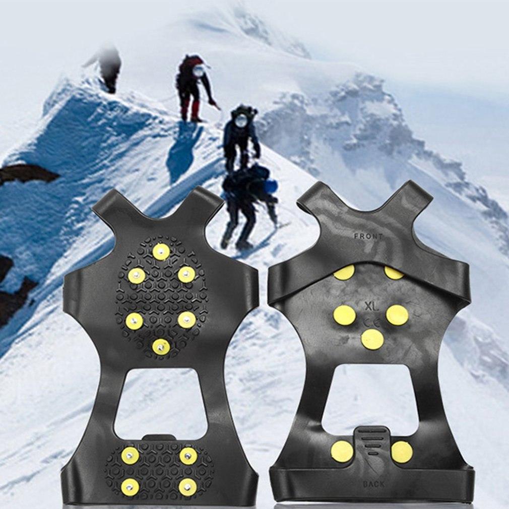 Профессиональные 10 зубьев шипы для льда зимние сапоги бахилы захват марганцевые стальные шипы против скольжения Crampon