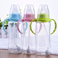 240ml Newborn Baby bottle, Infant Learn Feeding Drinking Handle Bottle, Kids Straw Juice water Bottles