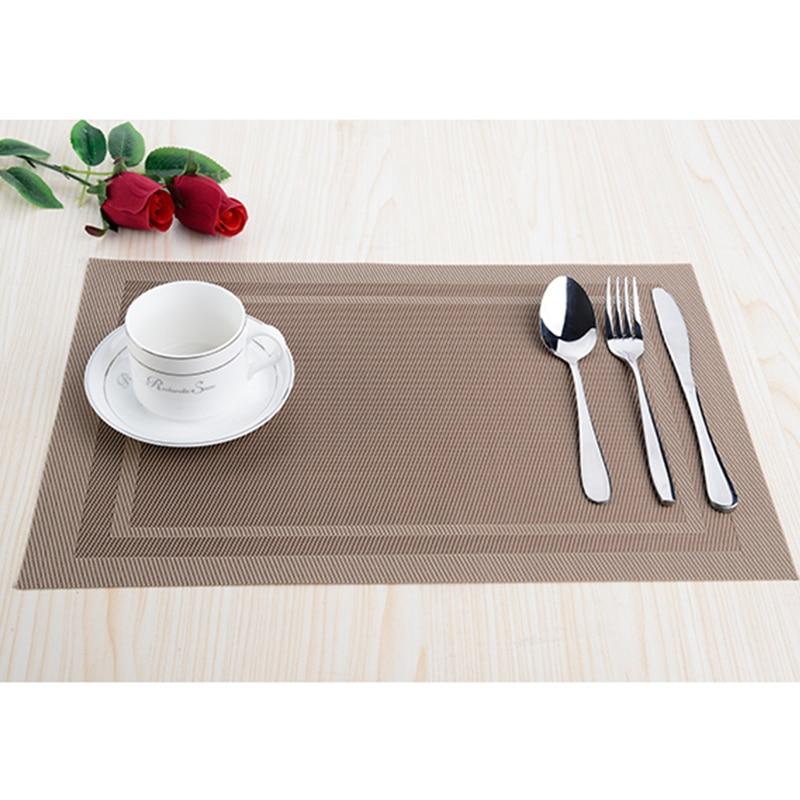 8pcs / lot PVC köksdisplay Placemats för matta manteles - Kök, matsal och bar - Foto 3