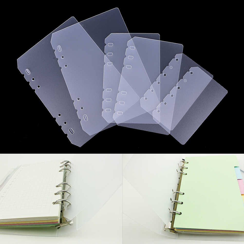 A5 A6 A7 PP Matt Frosted Plate for Protecting Inner PaperSpacer for Planner Filofax OrganizerDivider Separator Board Page 3sizes