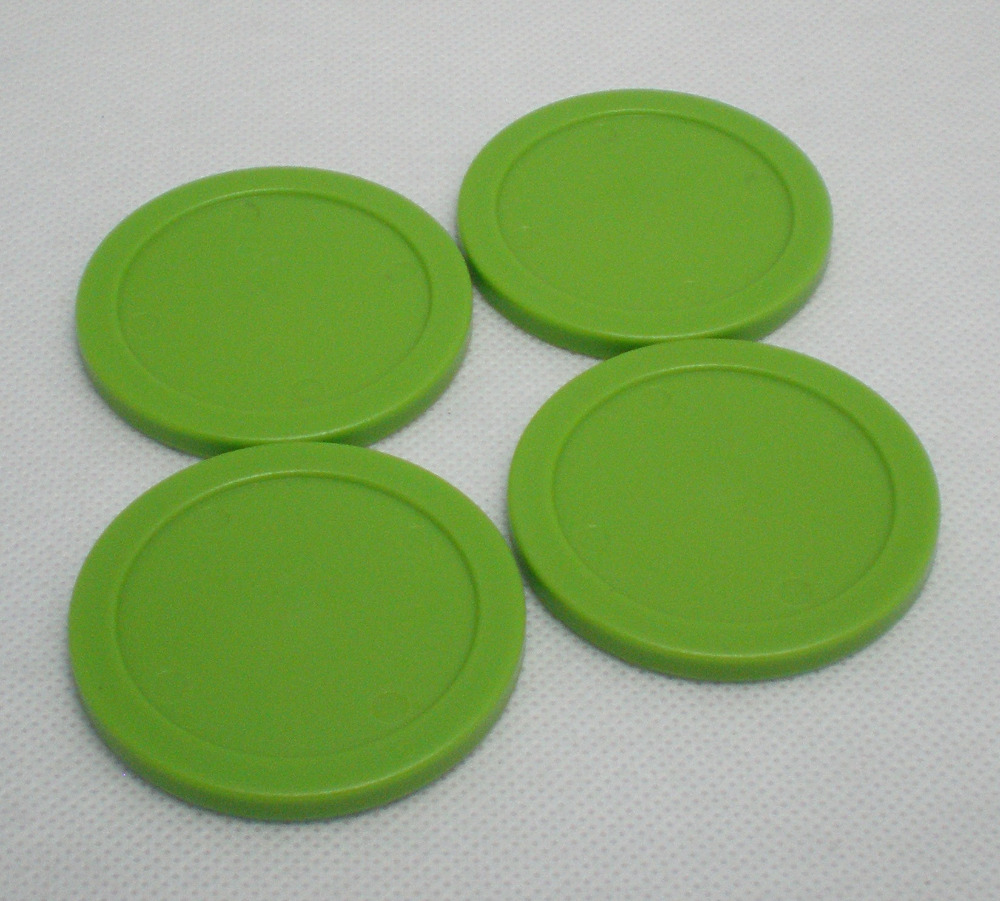 Free Shipping 4pcs/lot Green Air Hockey Table Pusher Round Puck 63MM 2-1/2