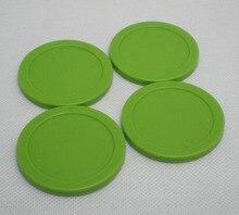 Бесплатная доставка 4 шт./лот зеленый аэрохоккея Pusher круглый шайба 63 мм 2-1/2 «Вратари 6331