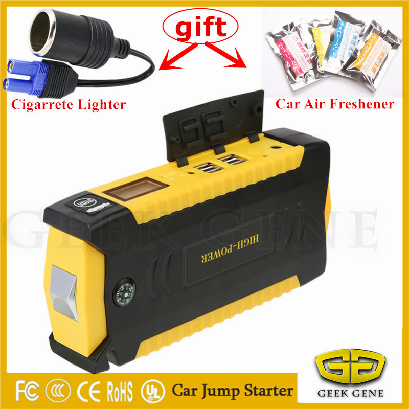 Car Jump Starter 16000mAh Power Bank Portable Starting Device 600A Car Battery Booster Charger Starting Petrol Diesel Car Buster 2017 starting device car jump starter 800a pack portable car starter power bank charger for car battery booster petrol diesel ce