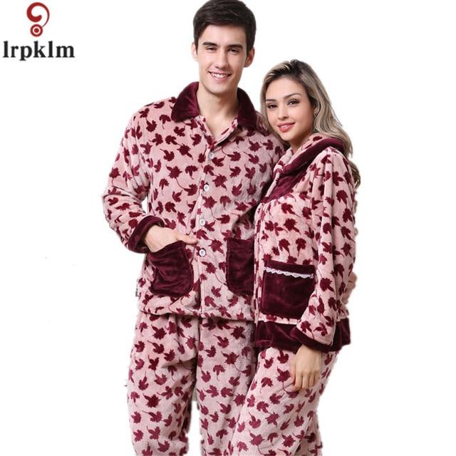 hei er verkauf lang rmelige damen winter schwere pyjamas set schlafanzug frauen. Black Bedroom Furniture Sets. Home Design Ideas
