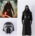 The Force Awakens Star Wars Kylo Ren Cosplay Costume Clothing Kids Boys Deluxe Classic Halloween Movie Costume