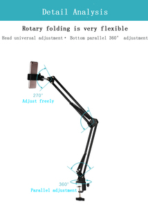 Image 5 - Photography Photo Studio 35W LED Fill Light with Suspension Arm Bracket Stand Kits For Desktop Phone Photo Video Shooting