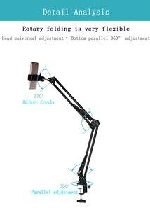 Image 4 - Telefone desktop fotografia 35w lâmpada led com suspensão braço suporte kits para fotografia de vídeo preenchimento luz 3 modos luz