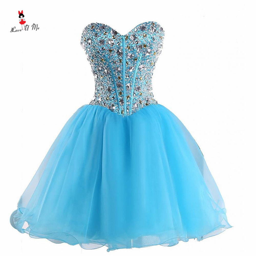 Gala Jurken Short Prom Dresses 2017 Turquoise Party Dress for ...