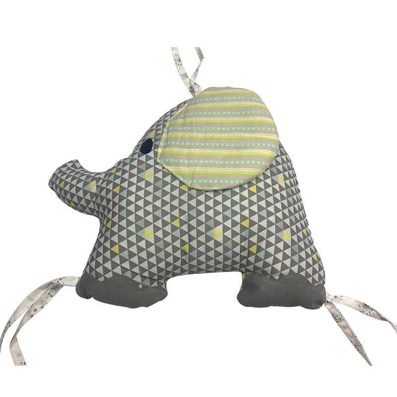 Gran oferta cama de bebé cuna con parachoques cuna elefante parachoques protector de cama de bebé cuna parachoques recién nacidos cama de niño juego de cama