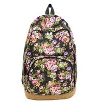 De Las Mujeres retras Hobo Lienzo Viaje Mochila Bolso de Escuela de La Taleguilla Mochila Impreso Floral Mochilas Para Adolescentes Niñas Caliente de La Venta