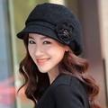 Envío gratis 1 unids 100% sombreros de Ala de lana 2016 otoño invierno moda para mujer sombrero de la manera caliente multicolor