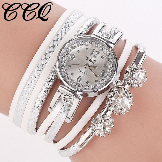 CCQ High Quality Beautiful Fashion Women Bracelet Watch Ladies Watch Casual Anal