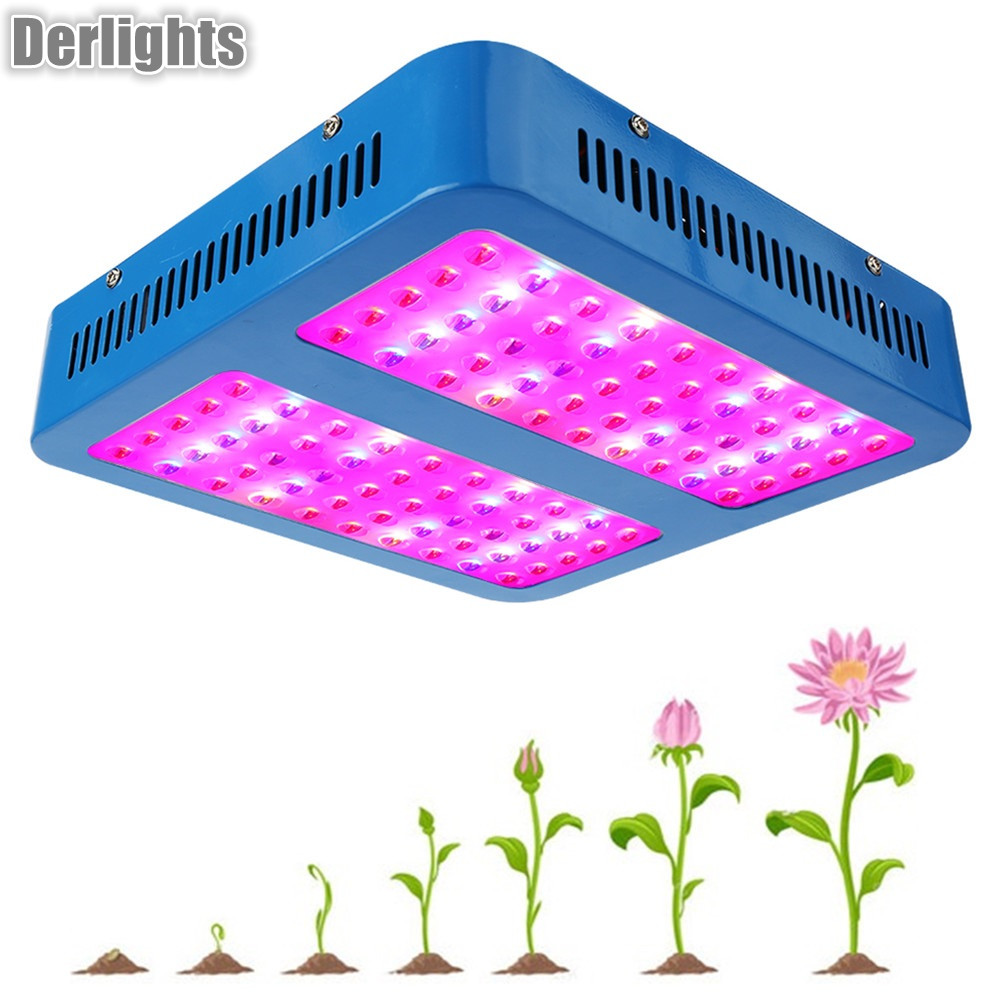 1000W LED Grow Light Full Spectrum Red/Blue/UV/IR For Indoor Plant Aquarium Greenhouse Hydroponic Flowering Growing 600w double chip 100 leds red grow light full spectrum uv ir for indoor greenhouse plant and flower
