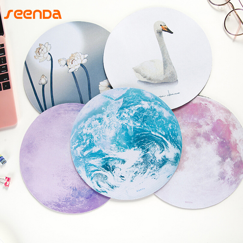 SeenDa Brand 3D Computer Mouse Pad Ultra Soft Natural Rubber Planet Series Mice Pad Round Gaming Mouse Pads For Laptop Notebook ...