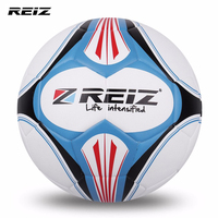 REIZ Premium Leather Football Official Size 4 Soccer Ball Matching Color Decorative Pattern Ball With Free
