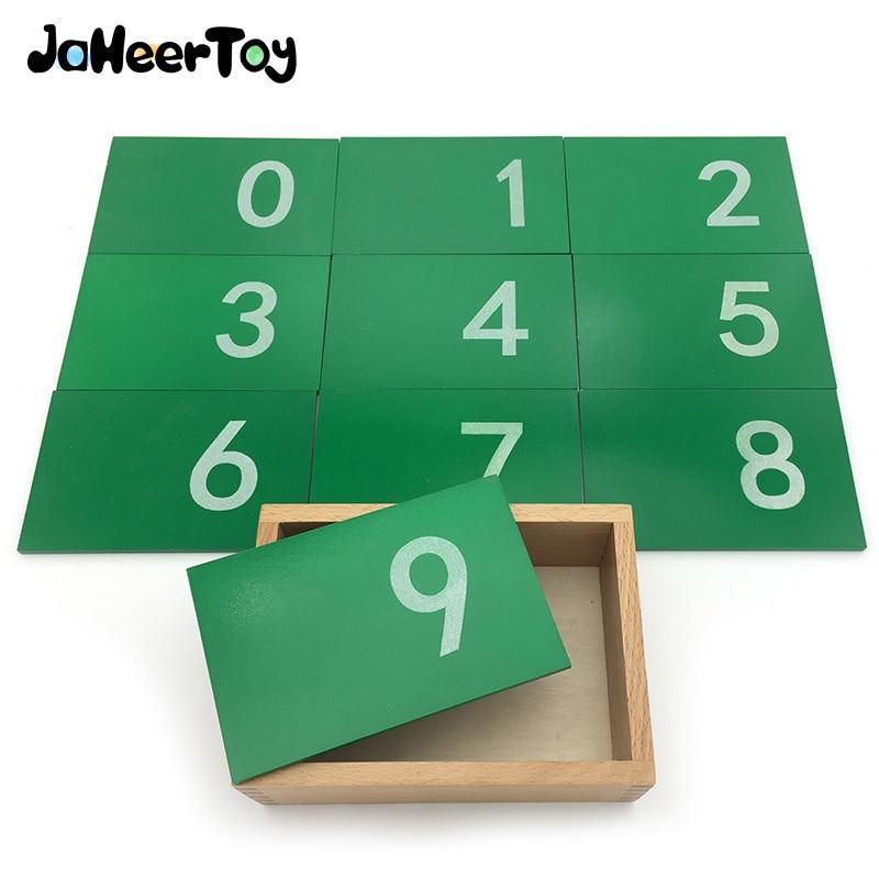 цены на JaheerToy Montessori Educational Toy 0-9 Digital Board Sand Plate Baby Wooden Toys for Children 3-4-5 Years Figure в интернет-магазинах