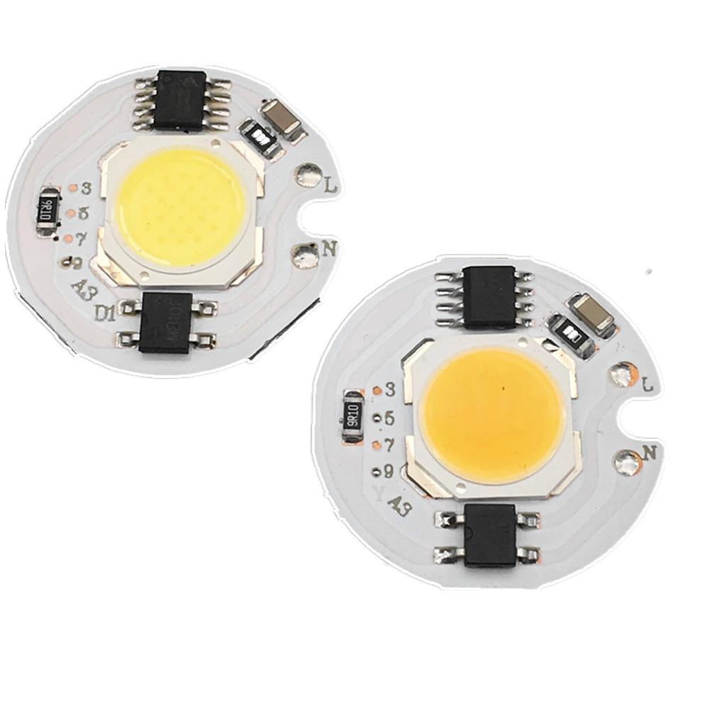 5pcs 3W 5W 7W 9W LED COB Chip AC220V 220V Smart IC Driver 3 5 7 9 watt bulb lamp Light Source For DIY LED Floodlight Spotlight
