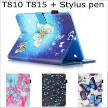 цена на Cute Cartoon Owl flower wallet card slot Stand pu leather case cover for Samsung Galaxy tab S2 9.7 SM-T810 T815 t810 with pen