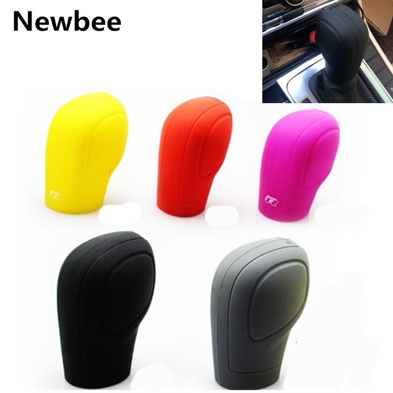 Auto Gear Head Shift knob Silicone Cover Handbrake Case for VW Golf 6 GTI DSG Jetta Tiguan POLO BORA Passat B7 Tiguan Touran(China)