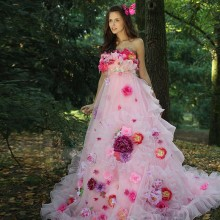 TPSAADE Ball Gown Pink Strapless Quinceanera Dresses