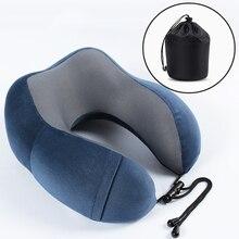 1 шт. u-образные подушки для путешествий на открытом воздухе портативная подушка для шеи путешествия складной медленный отскок пены памяти Поезд Самолет