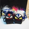 Hottest Monster Mini backpack coin purse wallet keychain keyring PU leaher fur multifunction car bag pendant charm