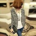 2016 Delgado Cardigan de Punto prendas de Vestir Exteriores de la Chaqueta de Las Nuevas Mujeres de Primavera Y Otoño Moda Sexy Leopard Cardigan Sweater A971