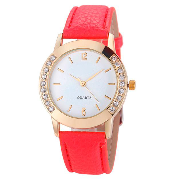 Hot Hothot Sale Quartz Watch Casual Style Women Watches Rhinestone Analog Faux Leather Wrist Watch Women relogio feminino jy28 claudia hot sale creative fashion watches men casual faux leather analog big dial sport style wrist quartz watch dropship