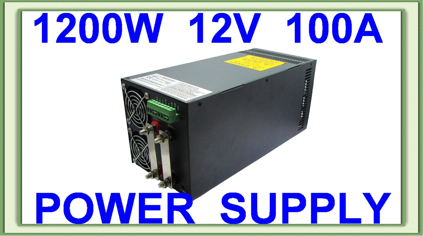 все цены на Hot sell 1200W 12V AC DC single output led lamp high quality switching power supply онлайн