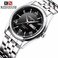 Relogio masculino 럭셔리 브랜드 스테인레스 스틸 아날로그 디스플레이 날짜 주 방수 남자 쿼츠 시계 비즈니스 남성 손목 시계