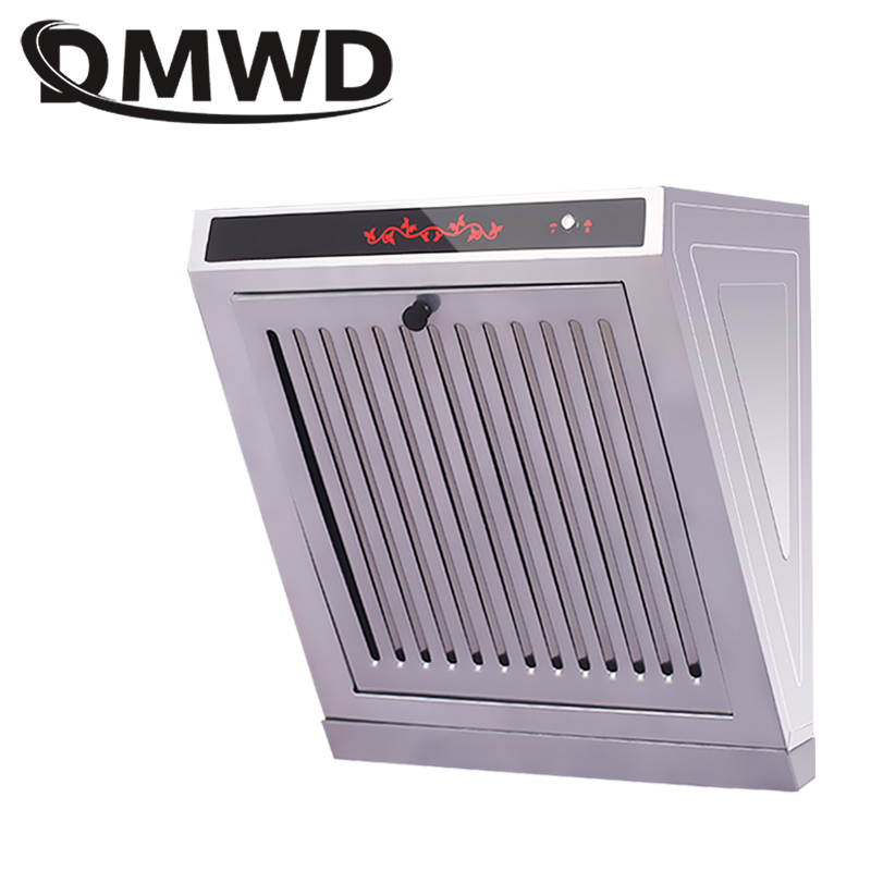 DMWD Mini Side Suction Range Hood Kitchen Oil Smoke Exhauster Cleaner Ventilator Cooker Hoods Exhaust Fan Lampblack Machine EU