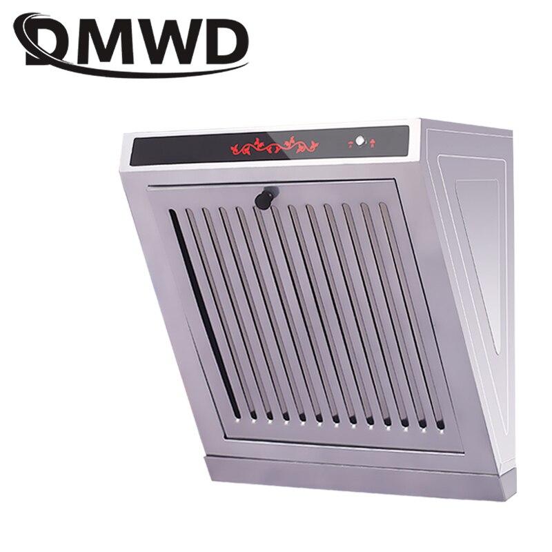 DMWD Mini hotte d'aspiration latérale cuisine huile fumée échappeur nettoyeur ventilateur hottes de cuisson ventilateur d'échappement noir de lampe Machine EU