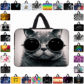 "Funny Cat 9.7"" 10"" 10.1"" Netbook Tablet Neoprene Inner Case Bags For iPad 11.6 12 13 14 14.4 15 17 inch Computer Notebook Cases"