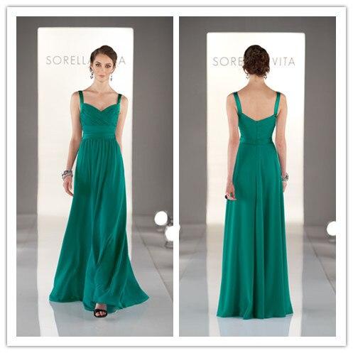 fdb651d91 2016 Simple A Line de noche largo vestidos con tirantes sin mangas Zip  volver Formal fiesta vestidos de encargo ZY4592 en Vestidos de noche de  Bodas y ...