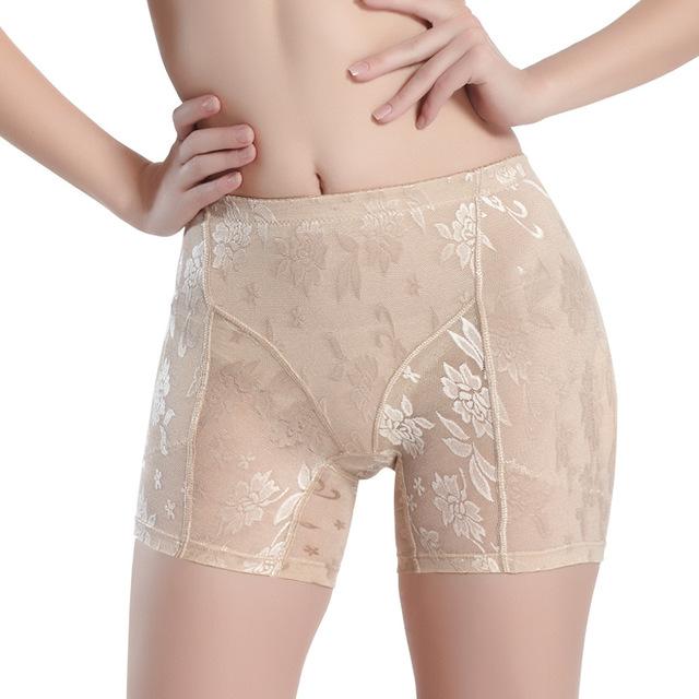 Women Shapers Fake hip briefs Women lace Breathable Buttock Underwear Lace Anti Emptied Underwear plus size Seamless Briefs