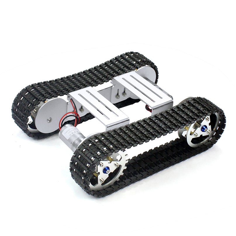 Feichao DIY Smart Shock   ดูดซับแชสซี Crawler ฐานเข็มขัด Crawler สำหรับ RC ถังหุ่นยนต์รถ A 04-ใน ชิ้นส่วนและอุปกรณ์เสริม จาก ของเล่นและงานอดิเรก บน   1