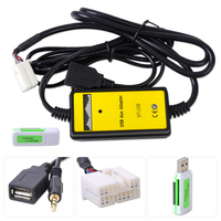 DWCX Car AUX Input MP3 Player CD Interface Adapter Changer USB Cable + Car Reader for Honda Accord Civic CRV Odyssey S2000