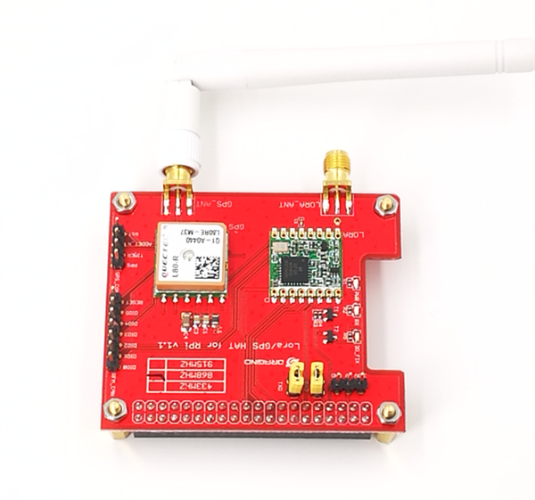 ФОТО Long distance wireless 433/868/915Mhz Lora and GPS Expansion Board for Raspberry Pi