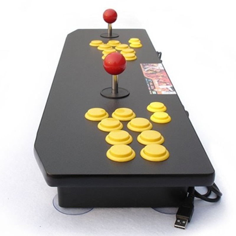 2017 new Computer PC USB Color pictures Double arcade joystick street fighting font b gamepad b