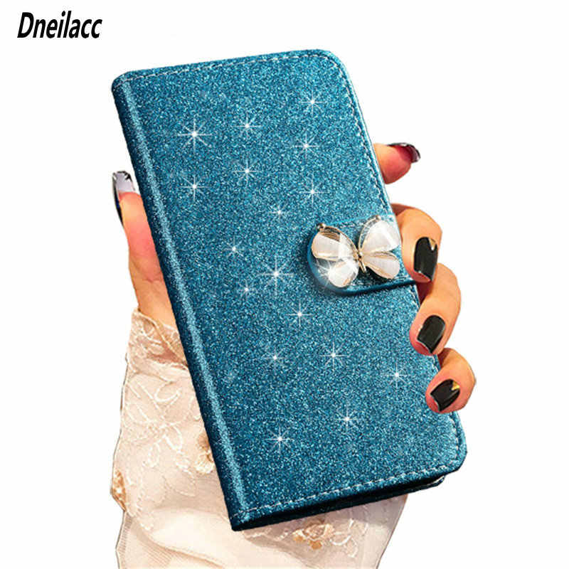 Flip Leather Glitter Phone Case For Xiaomi Redmi 7 Note 7 Note7 Pro Luxury High Grade Wallet Cover Stand Case Flash In The Sun