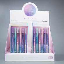 6 Pcs/Set Gel Pen Boligrafo Star Kawaii Cute Pens For School Lapices Tinta Gel Jel Kalem Caneta Colorida Korean Sky School 12 pcs set gel pen white boligrafo set color papelaria kawaii caneta cute stationery pens for school kalem
