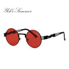 de981b1cfb1 Yok s Summer Small Round Sunglasses Women Steampunk Vintage Hollow Metal  Frame Sun Glasses Female Hippie Decoration Oculos UN095