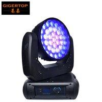 TIPTOP TP L675 Новый 37 Вт 12 светодио дный большой Moving Head зум свет шайба эффект США Cree RGBW 4IN1 светодио дный LED индивидуальный управление гладкой димме